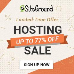 Siteground Hosting on Sales